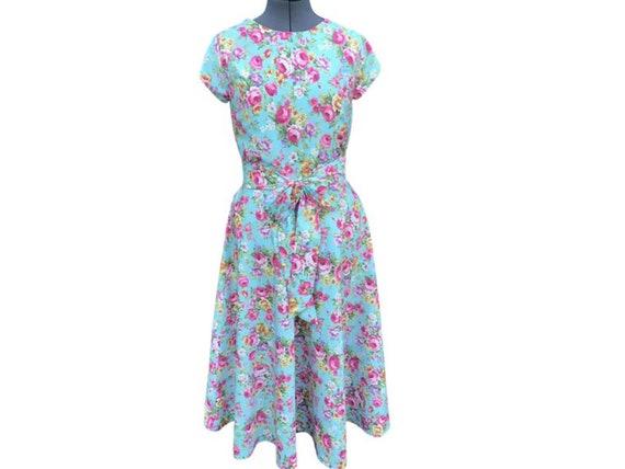 Vintage Dress | Cotton Dress | Floral Dress | Vintage Reproduction