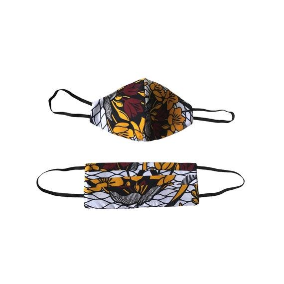 Reusable face masks filter sewn in |Ankara Fabric Mask | African Print Mask