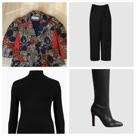 "African Print Blazer/Jacket/Blazer in Ankara ""Oyin"""