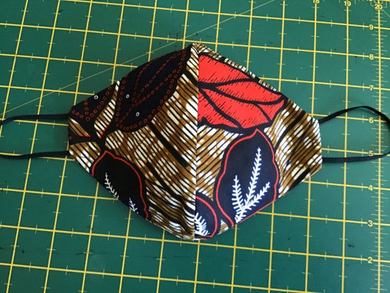 Reusable face masks filter sewn in Ankara Fabric. Non Medical