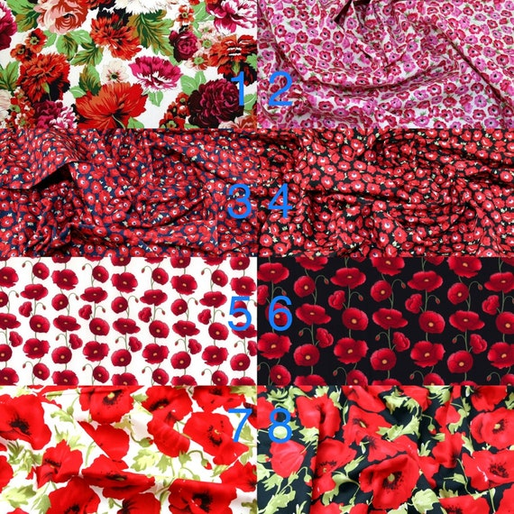 Red Floral Fabrics