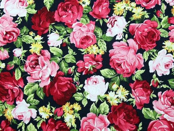 Floral Black & Pink