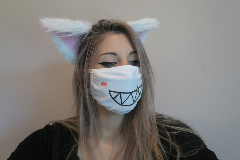 Large White Cat Ears