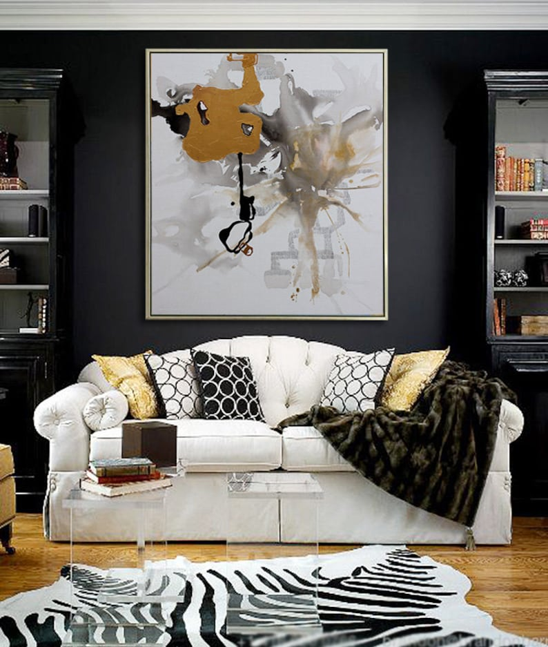 Abstract Painting Contemporary Art extra large wall art image 0