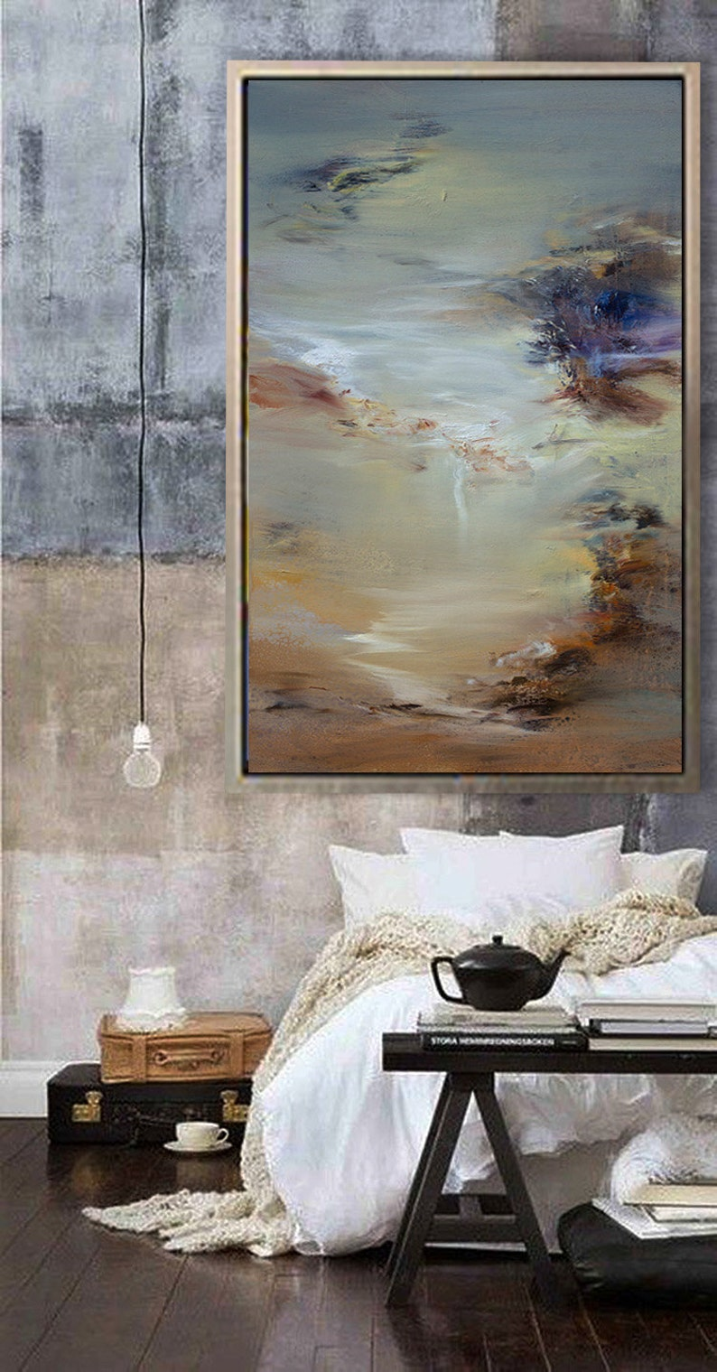 Oil Painting Abstract Art Canvas Art Large Painting Large image 0