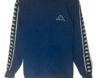 80c617b35666 Rare Design Vintage Kappa Side Tape Sweatshirt 90s