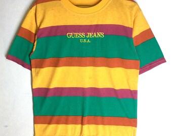 8dda32d8c107 Rare Design Vintage Guess Stripes Asap Rocky 1990s
