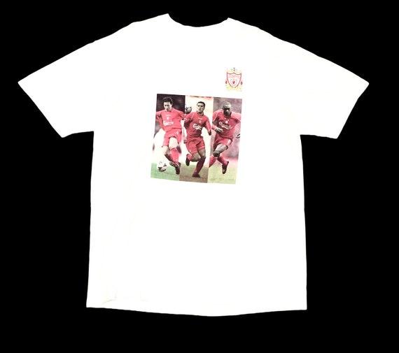 Rare Design Vintage Team Football Liverpool T-shir