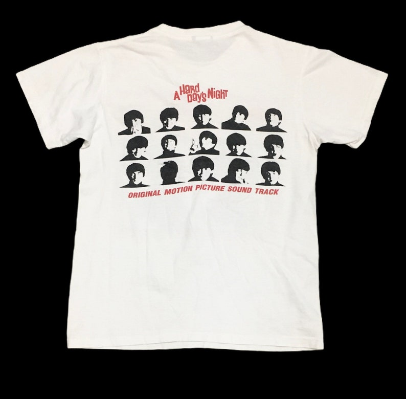 Rare Design Vintage The Beatles A Hard Day/'s Night T-shirt 2000s