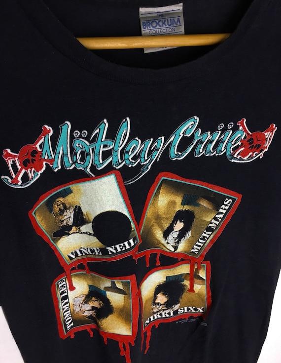 Rare Design Vintage Heavy Metal Band Motley Crue … - image 3