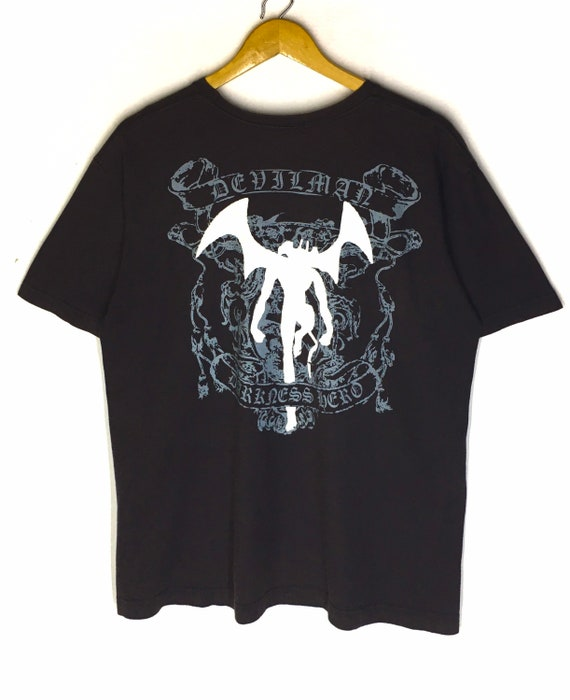 Rare Design Vintage Anime Manga Cartoon Devilman T