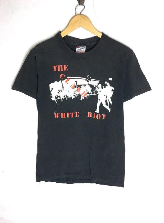 Rare Design Vintage Band Punk The Clash White Riot