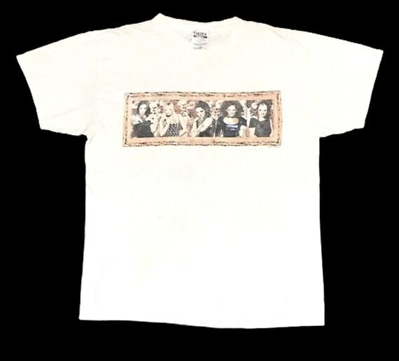 Rare Design Vintage Band Spice Girls T-shirt 1998s