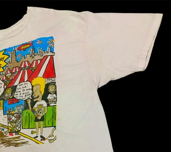Rare Design Vintage Beavis And Butthead T-shirt 1… - image 5