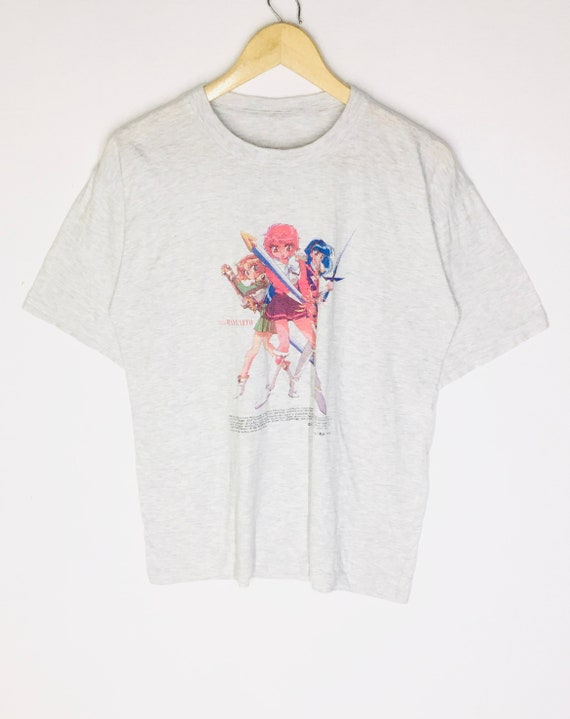 Rare Design Vintage Anime Cartoon Magic Knight T-s