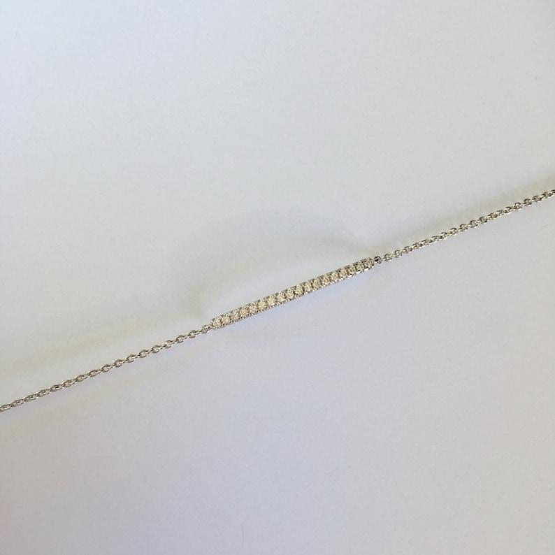 Crystal Bracelet Skinny Crystal Bar Bracelet Suradesires Skinny Bar Bracelet Bridesmaid Gift Bar Bracelet Danity Crystal Bar Bracelet