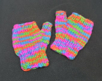 Baby's Fingerless Mitts. Age 0-1