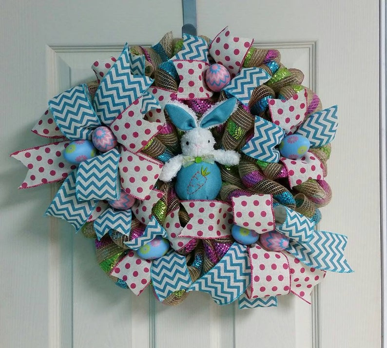 Spring wreath Easter wreath Rabbit wreath Easter Bunny wreath