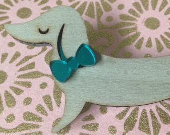 Dog Lovers Gifts, ,Dog, Dog jewellery,Dog brooch,Dog pin, Dog jewelry , sausage dog, dachshund ,Sausage dog gifts,wooden jewellery