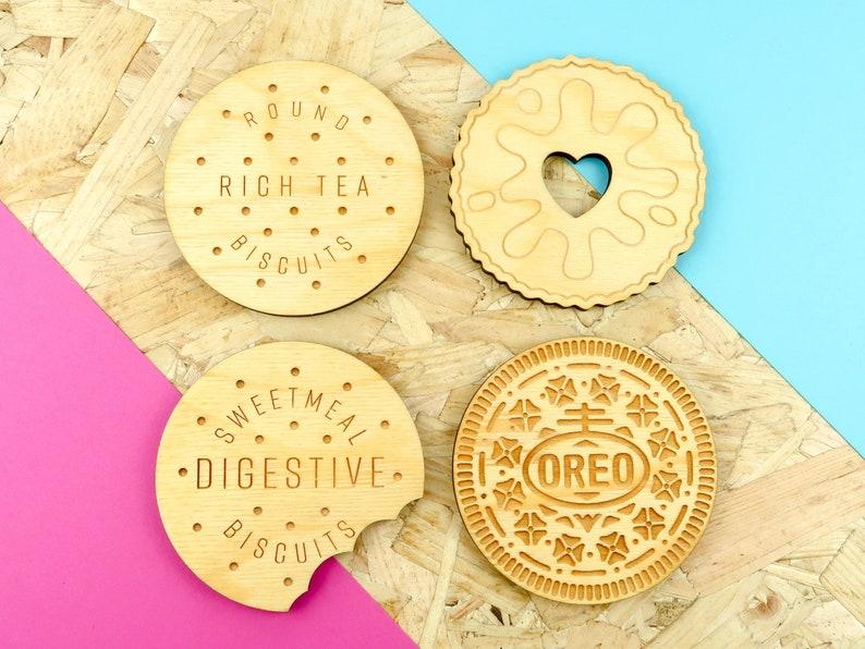 Biscuit Coasters  Drinks Coasters  Set of 4  British image 0