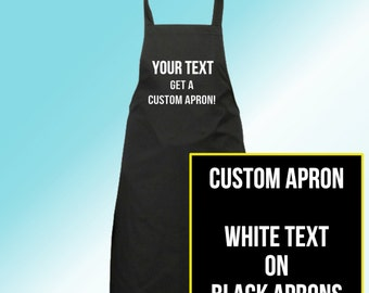 Custom Personalized Apron -- !! Choose Your Own Text !! --   BBQ Grilling Dad Gift, Men, woman, Unisex.