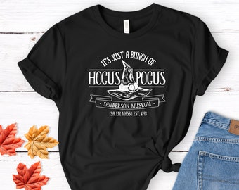 2f484a61 Sanderson Museum Shirt, Hocus Pocus Halloween Tee Shirt, Witch T-Shirt for  Women, Funny Halloween Shirt, Halloween Party October Shirt