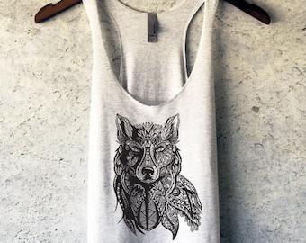Wolf Tank Top - Wolf Shirt - Wolf Tshirt - Animal Shirt - Wolf Tee - Wolf T Shirt - Hipster Shirt - Wildlife Shirt - Wolf Clothing