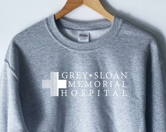 Grey Sloan Memorial Hospital T-Shirt - Grey's Anatomy T-Shirt Sweatshirt - Meredith Grey - Derek Shepherd - Grey's TShirt