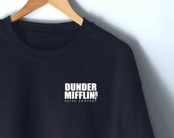 Dunder Mifflin Paper Co Pocket Sweatshirt - The Office Sweatshirt Jumper - The Office Sweater - The Office Sweatshirt - Michael Scott