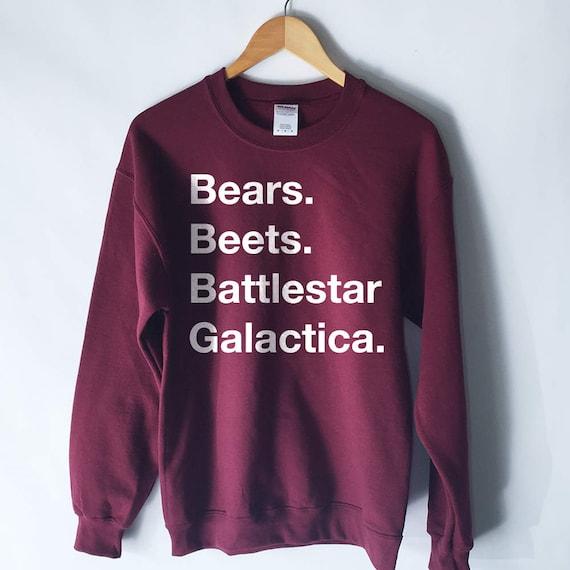The Office Bears Beets Battlestar Galactica Sweatshirt Etsy