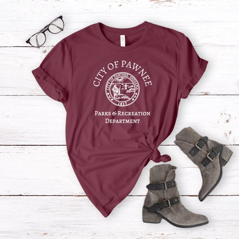 4ee7f1da090 City of Pawnee Shirt Parks and Rec Tee Shirt Department
