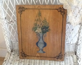 Antique French Victorian Oil Painting on wood panel, Intricate detail painting