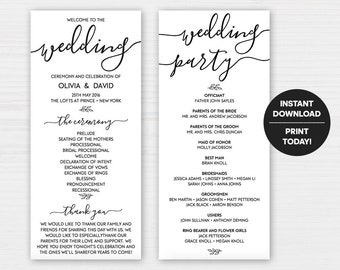 Wedding Announcement Templates | Wedding Templates Etsy