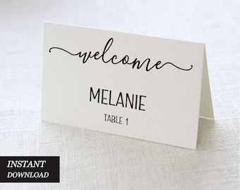 image about Printable Place Card Paper identified as Wedding day Vacation spot Playing cards Etsy