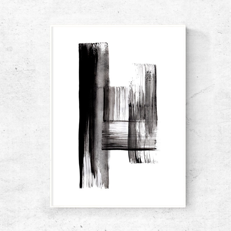 Abstract Black and white wall art 18x24 print abstract image 0