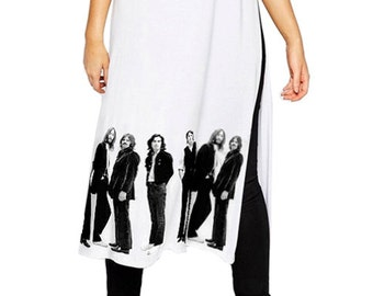 c024bdf71314 Beatles Standing Around T-Shirt Dress With Side Slit. IDILVICE