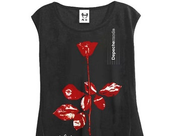 39cd6da9df Depeche Mode Violator New Wave Hi Low Hem T-Shirt Sleeveless Tank Top
