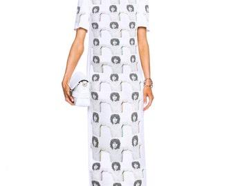 c62214fbcdd2 Jim Morrison Rockstar Chest Repeat Maxi T-Shirt Dress. IDILVICE