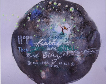 Hope is the Thing with Feathers: poetry art