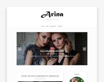 Clearance! Sale Arina - Premade Blogger Template - Responsive Blogger - Minimalist - Slider - Minimal - Blogger Theme