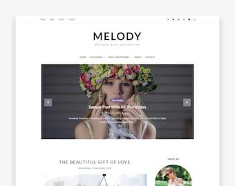 Clearance! Sale Melody - Blogger Template - Premade - Responsive - Minimalist - Simple - Blogger Blog - BlogSpot - Slider - Blogger Theme