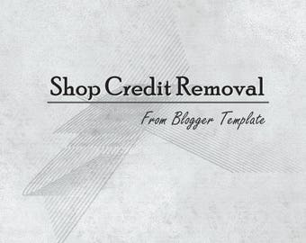 Remove Shop Credit ! Credit Link Removal from Blogger Theme