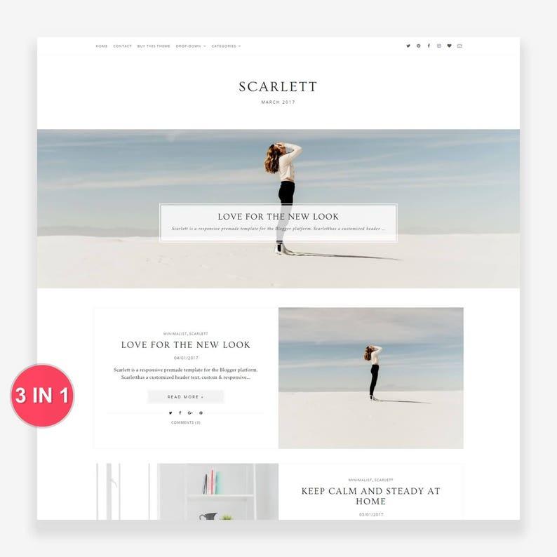 Scarlett  Responsive Blogger Template  Free Installation  image 0