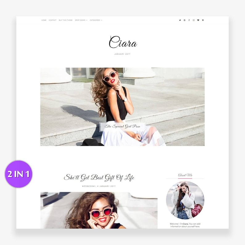 Clearance Sale Ciara  Blogger Template  Responsive Blogger image 0