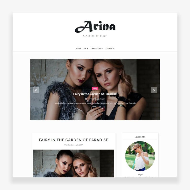Clearance Sale Arina  Premade Blogger Template  Responsive image 0