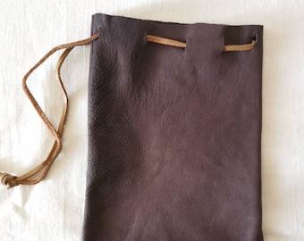 Roman replica leather pouch (hand sewn)