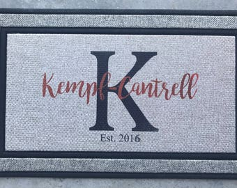 Personalized Welcome Mat, Monogram Door Mat, Custom Doormat, Personalized  Doormat, Personalized Welcome Mat, Front Door Mat, Wedding Gift