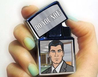 Archer lighter, do you not lighter, danger zone lighter, lighters, gift for him