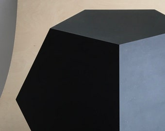 Black Dodecahedron | End Table | Mathematical object | sculpture
