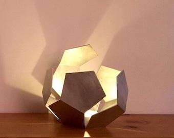 Open Dodecahedron | Tea light holder | Lantern | Metal sculpture